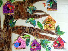 bulletin board twigs birdhouses | BIrd houses by paintedpaper, via Flickr