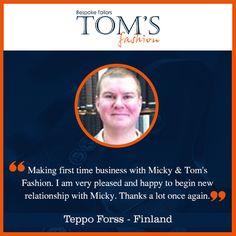 Happy Customers. Tom's Fashion #Customers #Happy #CustomTailors #TomsFashion