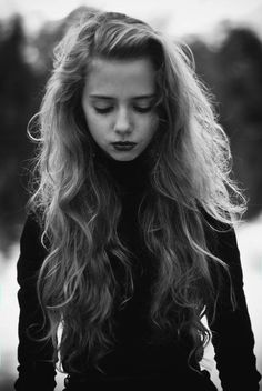Pretty B&W photo--love her hair