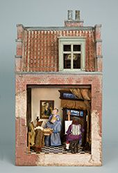 Bluette Meloney designs and creates dollhouse miniature scale rooms and scenes with faux finishes and other realistic effects and textures. Miniature Rooms, Miniature Houses, Doll Furniture, Dollhouse Furniture, Diy Doll Miniatures, Toy House, Tiny Treasures, Small World, Vignettes