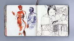 Selected sketchbook pages