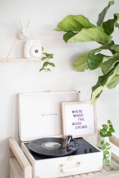 Put Your Records On - Mckenna Bleu Teen Room Decor, Bedroom Decor, Gold Planter, White Aesthetic, My Room, House Tours, Room Inspiration, Interior And Exterior, Sweet Home