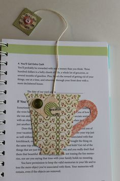 Paper Crafted Teacup Bookmark in Pinks and by TheGreenDoorCottage, $3.25