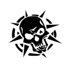 Skull with Spikes #skull #spike #point #teeth #bad #ass #star