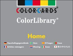 $65.00 Home - Color Library: Contains 96 items that you would find in the home. The photographs are divided into rooms, living room: kitchen, bathroom, bedroom, home office, and garden. Beautifully updated with clear and modern images, this set is a core resource for vocabulary work with children and with English language learners.