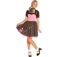 Elegant Moments Girls Sock Hop Cutie Teen Costume - Teen M/L Sock Hop Costumes, Cute Costumes, Costume Ideas, Halloween City, Halloween Costumes For Teens, Halloween Stuff, Halloween Ideas, Teen Girl Costumes, 50s Costume
