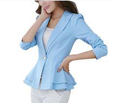 Hot Fashion Jacket Blazer Women Suit Foldable Long Sleeves Lapel Coat Candy Color Blazer Single Button Blazers Jackets - www.eneryoh.com