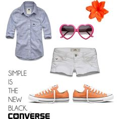 Cool Summer Outfits With Shorts Need orange converse....