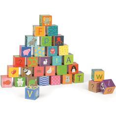 Juego de 32 cubos con letras del abecedario y puzle de animales, para apilar y construir. Es ideal para que los niños aprendan el abecedario al tiempo que juegan haciendo torres, composiciones o simplemente, montan el puzle de animales que hay en la parte posterior. Fabricados en cartón de excelente calidad, cuenta con diferentes imágenes en cada una de sus caras. Este juego es perfecto para desarrollar el equilibrio y la orientación espacial apilando los cubos sin que se caigan. Presentado…