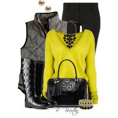 Quilted Herringbone Vest by bbroxton on Polyvore featuring Amanda Wakeley, J.Crew, Patrizia Pepe, Hunter, Tory Burch, Gabriella Rocha and Chanel