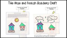 Wise and Foolish Builder Paper Craft