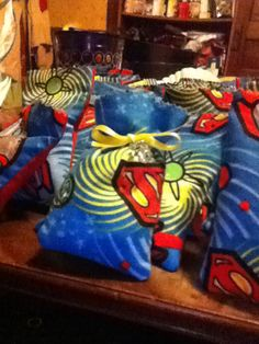 Superman baby shower party bags . Been makin them all night