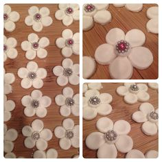 Chocolate flowers with bling