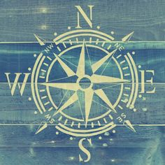 'Nautical Compass' by Brandi Fitzgerald Graphic Art on Wrapped Canvas