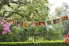 Vintage Chic Baby Boy Shower: baby photo clothesline by laurie