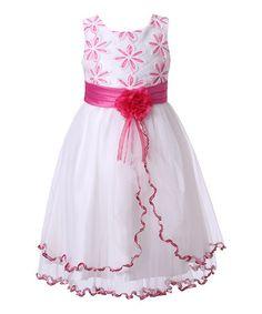 Loving this Fuchsia & White Sweet Princess Dress - Girls on #zulily! #zulilyfinds
