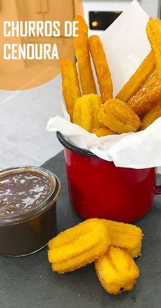 Receita de churros de cenoura | Churros caseiro | Churros diferente | #receita #diy #facavocemesma #comida #doce #brigadeiro