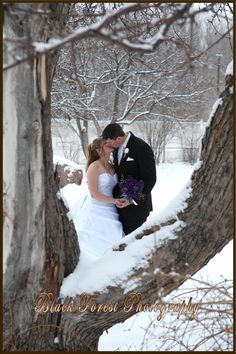 Winter wedding photo by http://www.blackforestphoto.com at the Briarhurst Manor in Manitou Springs, Colorado