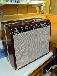 modified Fender Princeton Reverb w/ Custom Cabinet Fender Guitar Amps, Guitar Rig, Box Guitar, Music Guitar, Princeton Reverb, Diy Guitar Amp, Guitar Cabinet, Bass Amps, Pedalboard
