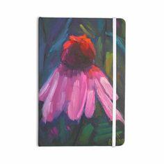 "Carol Schiff ""Shady Coneflower "" Pink Red Everything Notebook"