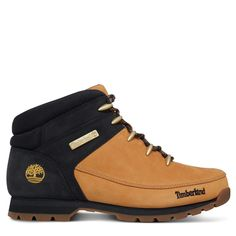Timberland Euro Sprint EK Mens Leather Hiking Boots Yellow Black Size - Leather Boots - Ideas of Leather Boots - Timberland Euro Sprint EK Mens Leather Hiking Boots Yellow Black Size Price : Leather Hiking Boots, Mens Hiking Boots, Men Hiking, Leather Ankle Boots, Timberland Stiefel Outfit, Timberland Mens, Timberland Style, Brown Boots, High Top Sneakers