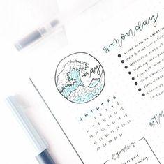 Bullet Journal Enero @tashbujo