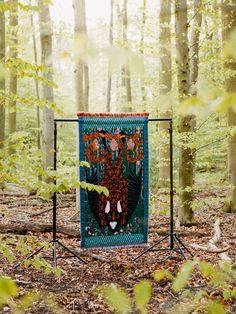Kustaa Saksi 'Hanging Loose', 2015, 86 x 168 cm. Jacquard weave. Mohair, Acryl, Lurex.