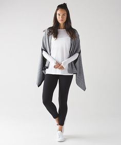 Lululemon Vinyasa Wrap | hazy heather heathered white heathered black/black