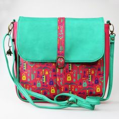 LOCK AND KEY CROSS BODY SLING BAG - SLING BAGS - BAGS & WALLETS :: Chumbak