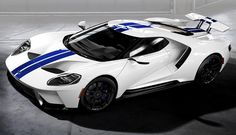 2017 Ford GT: Top 10 Color Combinations From The New Ford GT ...  Not sure why I like the white with Blue strip, seen this one in the Roush building checking up on the Ford Performance team.  Love my job!