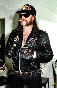 Lemmy in Zurich, Switzerland,1985.  Photo credit: Joseph Carlucci.