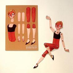 Circus Folk DIY Paper Doll Fred van kissabug op Etsy