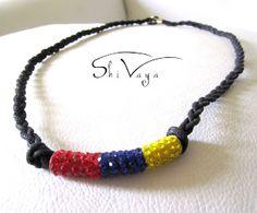 Shivaya Stone: Venezuela Flag!!! Venezuela Flag, Paracord, Diy Crafts, Stone, Crochet, Bracelets, Etsy, Jewelry, Craft