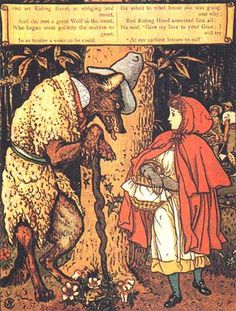 Crane, Walter. Little Red Riding Hood. London: George Routledge and Sons, 1875. prints also available on art.com