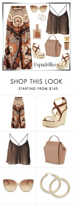 """""""Untitled #826"""" by m-jelic ❤ liked on Polyvore featuring Valentino, Jimmy Choo, Onesixone, Linda Farrow and Yves Saint Laurent"""