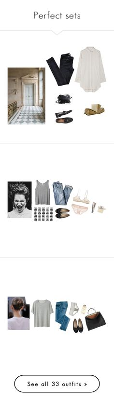 """""""Perfect sets"""" by mara-13-1 ❤ liked on Polyvore featuring Vanessa Bruno Athé, M.i.h Jeans, The Row, Trianon, J.Crew, Monday, Monki, Chloé, Chanel and Only Hearts"""
