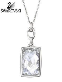 swarovski silver nirvana clear crystal pendant necklace 1144358 new authentic black crystal