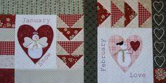 Patchwork Allsorts: February Snow Happy Heart Block