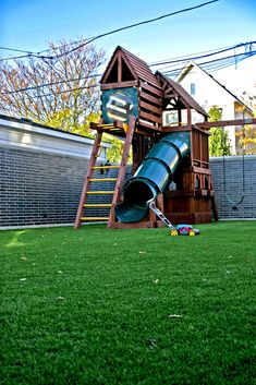 #SYNLawn artificial grass provides additional safety for falls on #playground applications. #Vancouver SYNLawn call Chris 778-246-2209.
