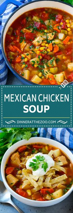 Lower Excess Fat Rooster Recipes That Basically Prime Mexican Chicken Soup Chicken And Vegetable Soup Chicken And Potato Soup Best Soup Recipes, Healthy Soup Recipes, Mexican Food Recipes, Cooking Recipes, Recipes Dinner, Potato Recipes, Crockpot Recipes, Breakfast Recipes, Dessert Recipes