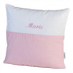 personalisiertes kissen von lakaro in rosa vichykaro schlaf accessoires f r babys und. Black Bedroom Furniture Sets. Home Design Ideas