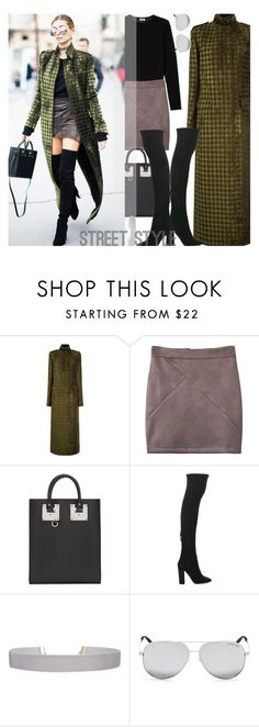 """""""Houndstooth Coat..."""" by unamiradaatuarmario ❤ liked on Polyvore featuring Haider Ackermann, Sophie Hulme, Aquazzura, Humble Chic and Michael Kors"""