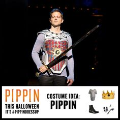 This Halloween, it's #PippinDressUp! Recreate the look of Pippin using the pins from this board. If you find anything or if you dress up, tag your pins with #PippinDressUp.