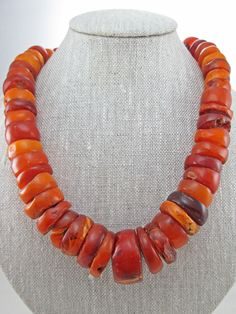 Genuine Amber Graduated Bead Necklace Vintage Amber Beads, Amber Jewelry, Ethnic Jewelry, Beaded Jewelry, Beaded Necklace, Amber Necklace, Decorative Beads, African Trade Beads, Jewelry Crafts