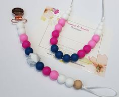 This item is unavailable Teething Beads, Teething Necklace, Teething Toys, Diy Necklace, Diy Earrings, Fashion Necklace, Dummy Clips, Kids Jewelry, Girls Necklaces