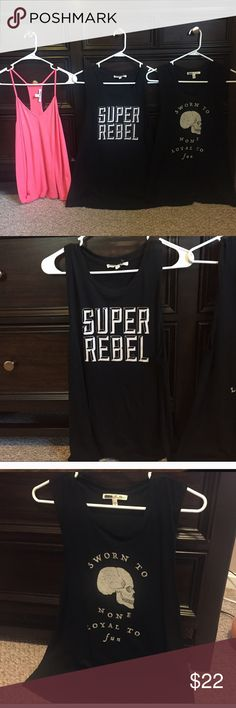Express One Eleven Tank Bundle! Sizes XS & S. Express One Eleven Tank Bundle! Sizes XS & S. Super Rebel & Peach Tank Sizes S. Other Size XS. Express Tops Tank Tops