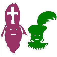 Sinterklaas en Kleurpiet - gezichten - silhouetten