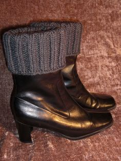 TWO IN ONE 2 in 1 Hand knit boot toppers boot cuffs boot by LILMOD, $29.00