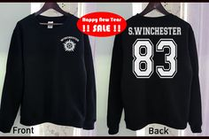 VENTE!! Sam Winchester Sweat Shirt Supernatural Gildan drôle 2 couleurs vêtements gris noir gris