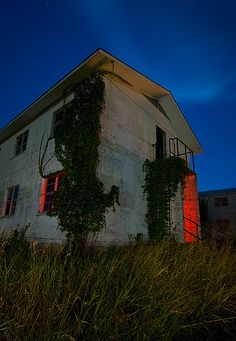 Abandoned Army barracks, Fort Wolters, Mineral Wells, Texas.